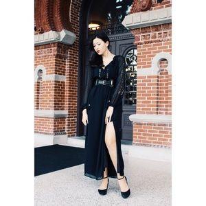 NWT Altuzarra Target gothic Swiss Dot Maxi Dress
